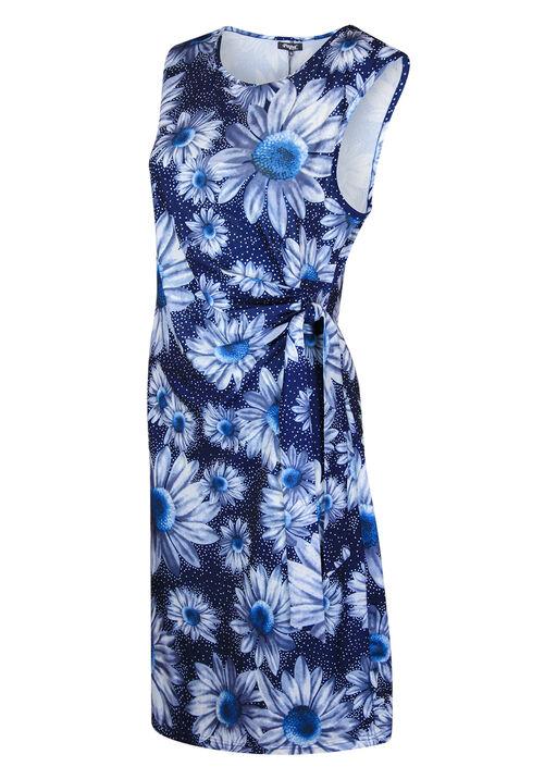 Sunflower Wrap Dress, Blue, original