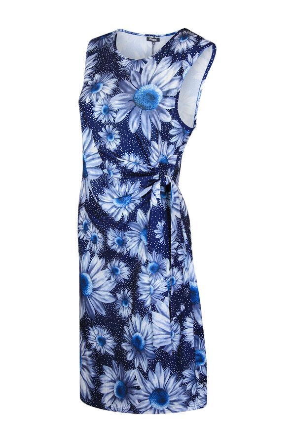 Sunflower Wrap Dress, Blue, original image number 0