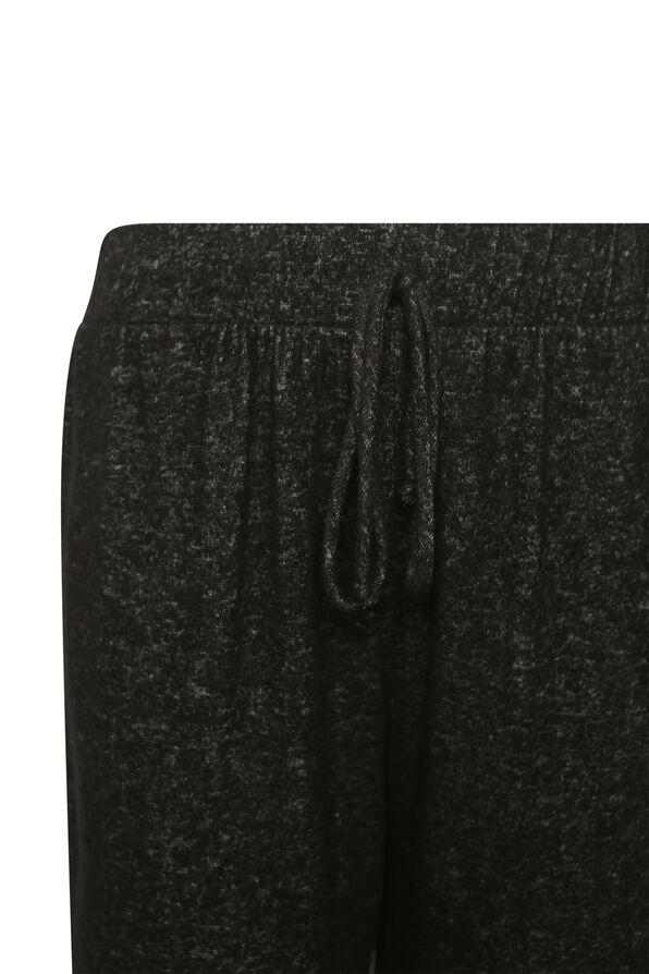 Butter Fleece Jogging Pants, Black, original image number 1