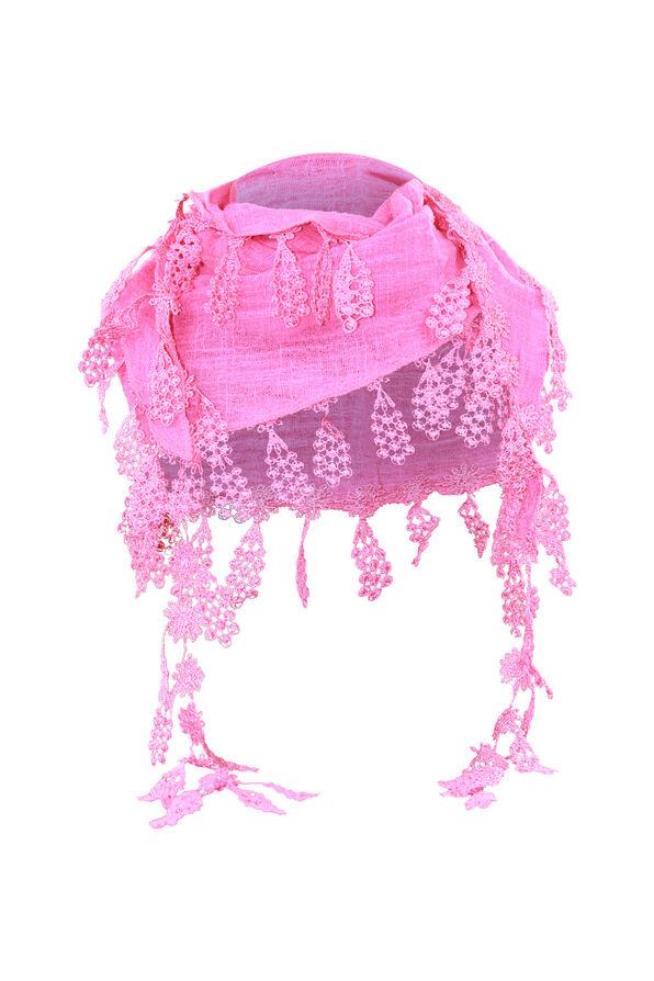Lace Fringe Scarf, Fuschia, original image number 0