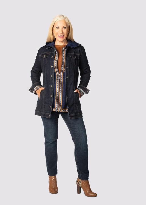 Nicolette Maxi Denim Jacket , Indigo, original
