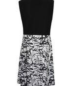 Sleeveless Dress with Side Gather, Black, original image number 1