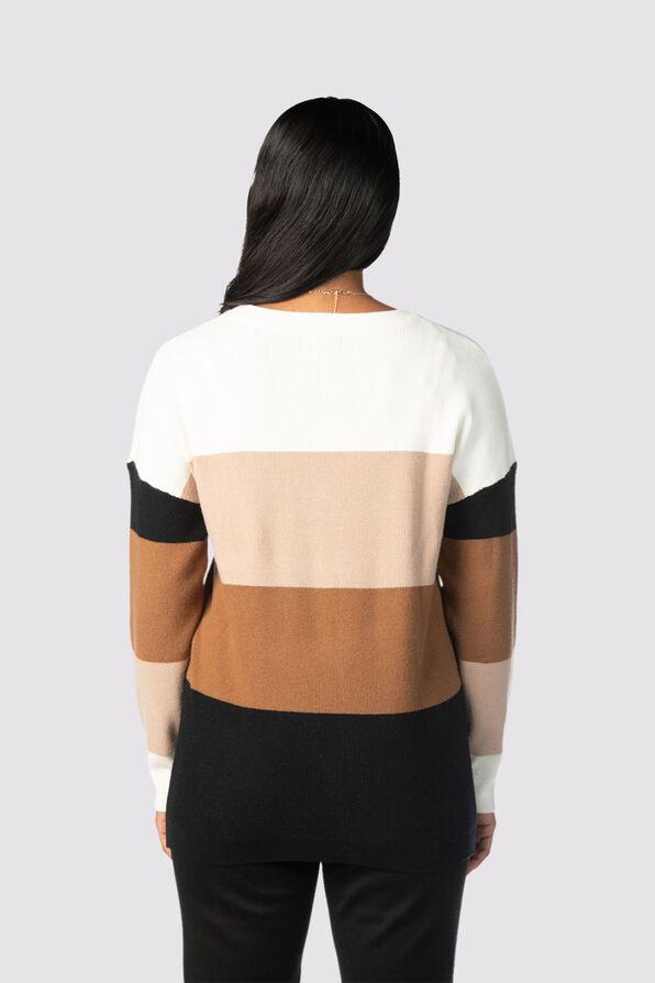 Plush Colorblock Sweater, Multi, original image number 2