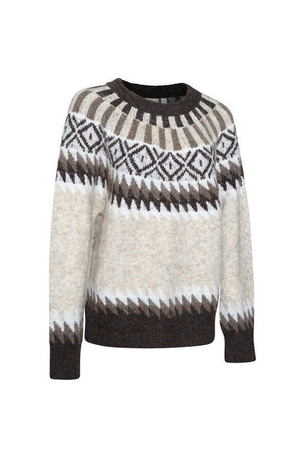 Chalet Sweater, Taupe, original image number 0
