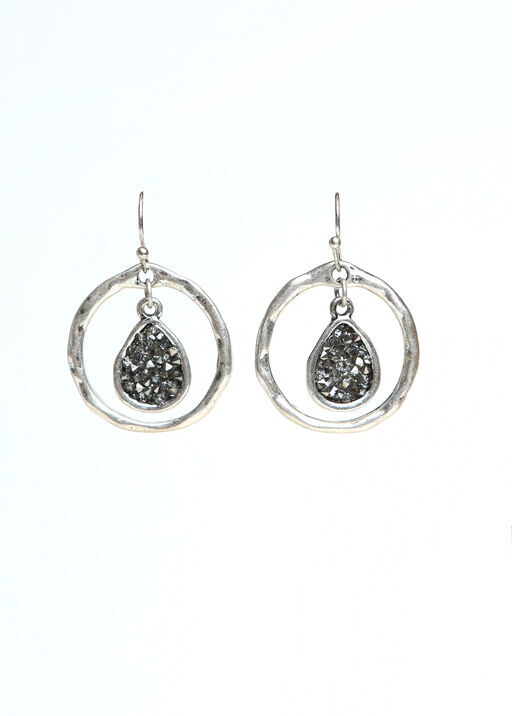 Elegant Earrings , Silver, original
