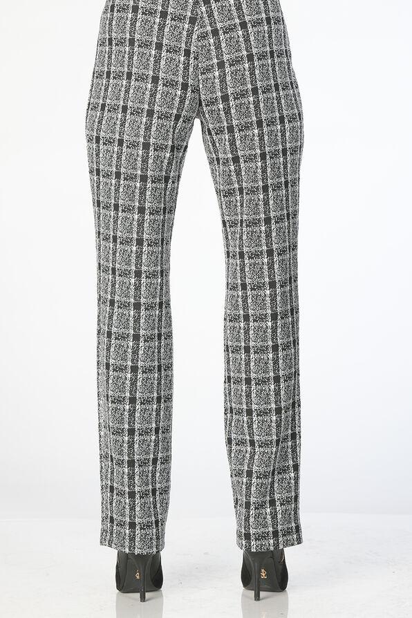 Georginna Plaid Pants, Black, original image number 1