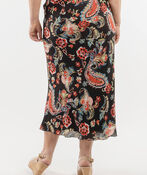 Paisley Chiffon Skirt, Black, original image number 1