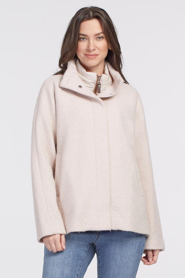 Latte Outerwear Jacket, Cream, original image number 0