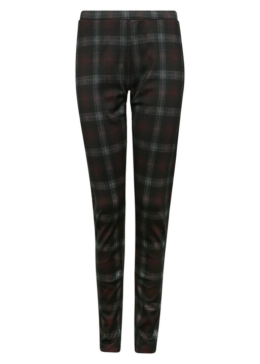 Plaid Legging , Black, original