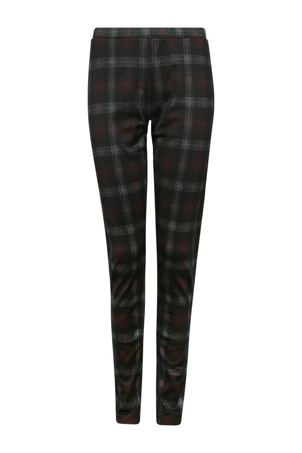 Plaid Legging , Black, original image number 0