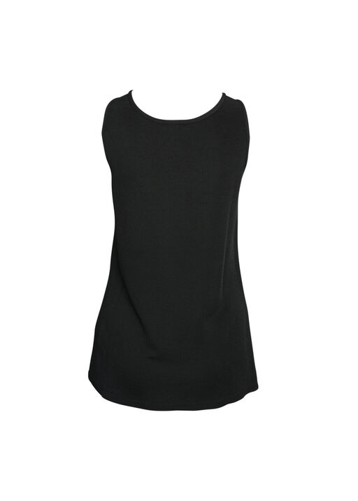 Ottoman Rib Knit Tank Top, Black, original