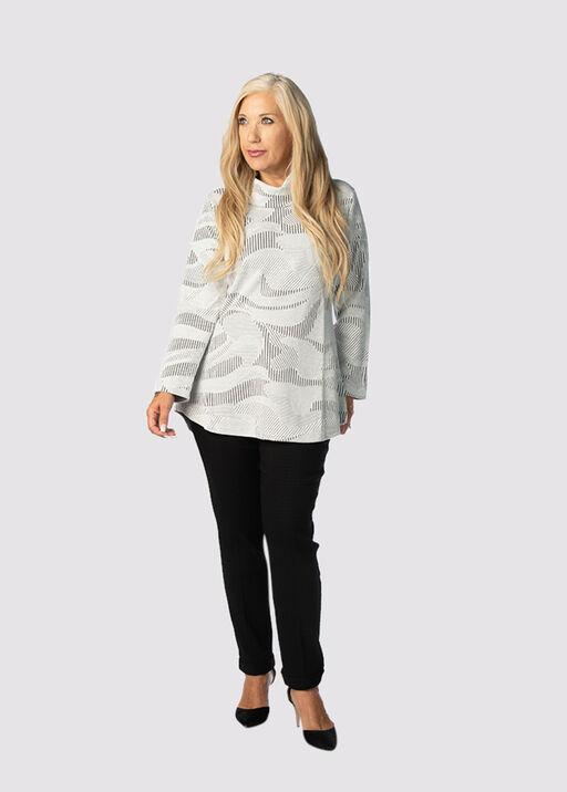 Jacquard Cowl Tunic, White, original
