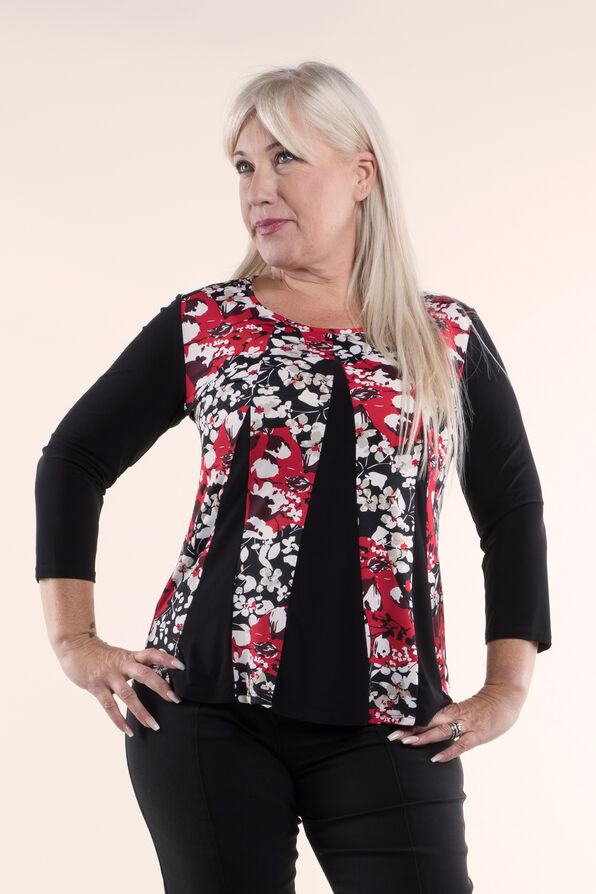 Tunic Top Fit and Flare, Red, original image number 0