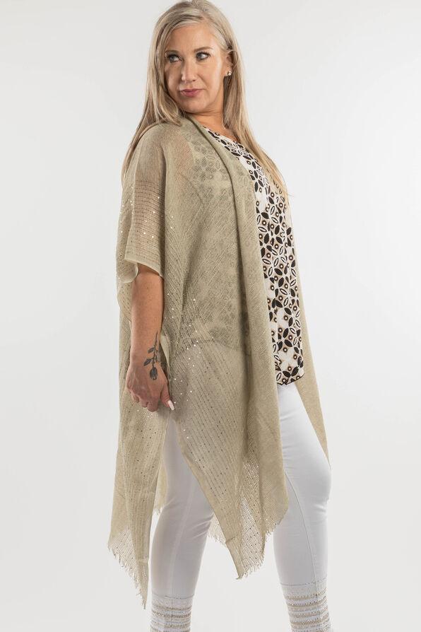 Cotton Kimono with Sequins, Sage, original image number 3
