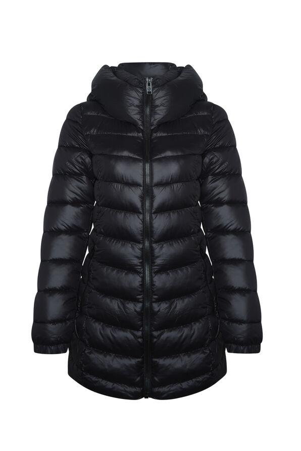 Long Mid Weight Puffer Coat , , original image number 0