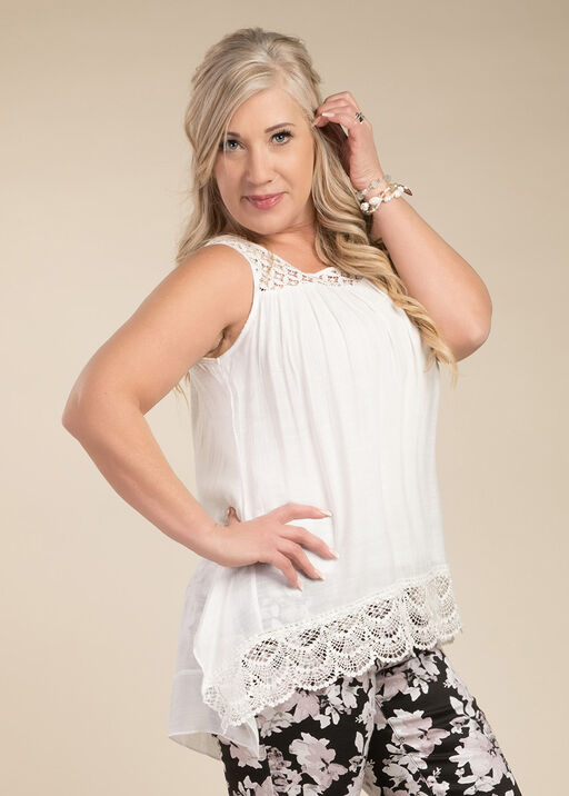 For Love and Lace Top, Cream, original