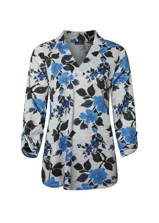 Floral Print V-Neck Sweater, , original