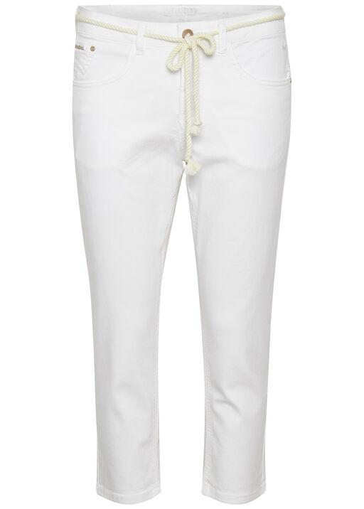 Cream Coco Fit Jeans Ava Capri Pant, White, original