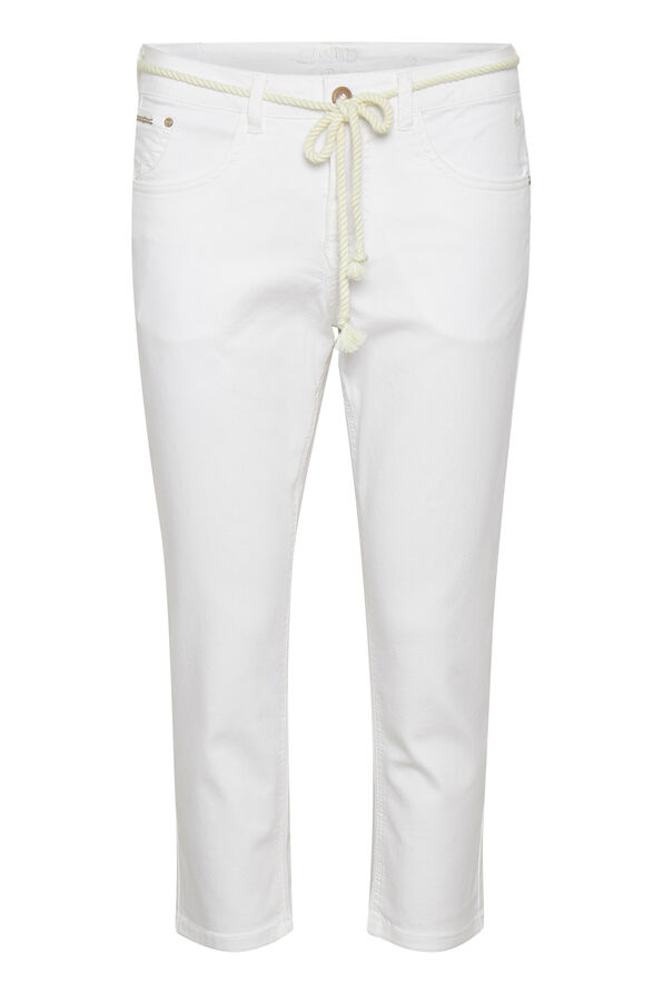 Cream Coco Fit Jeans Ava Capri Pant, White, original image number 0