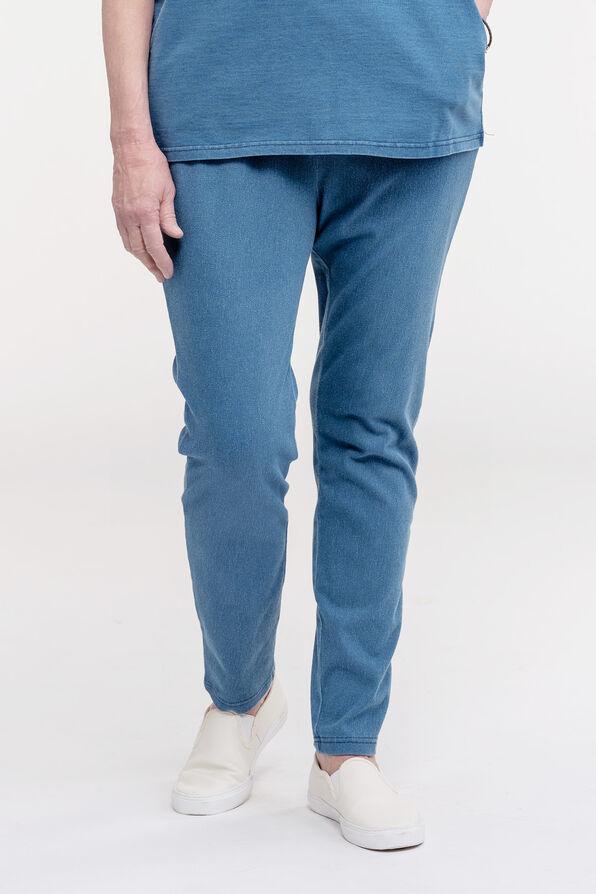 Pull On Ankle Length Leggings, Blue, original image number 0