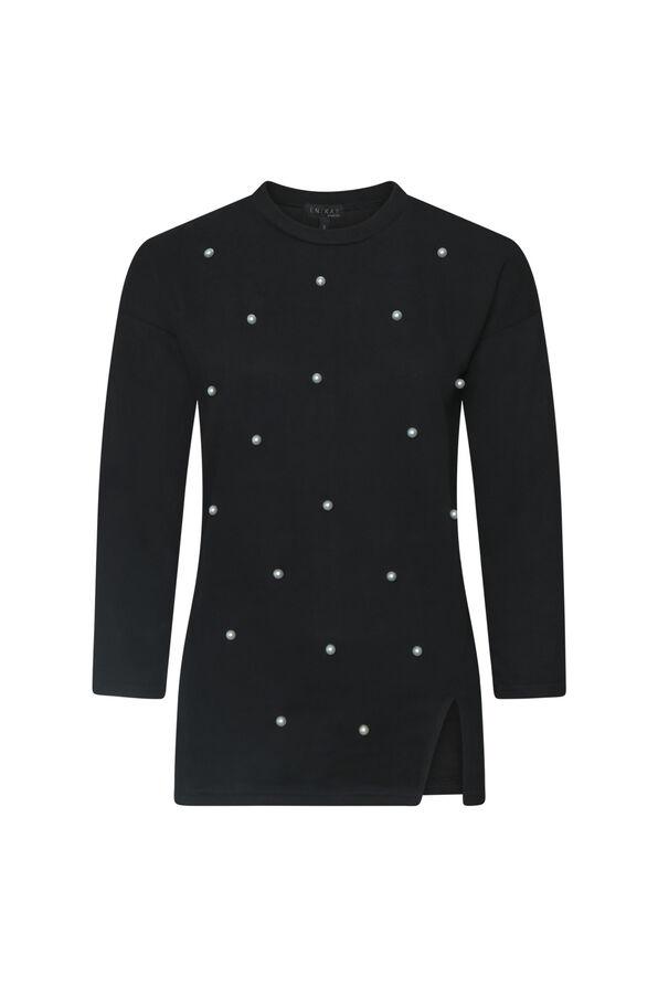 Tiffany Pearl Sweater, Black, original image number 0