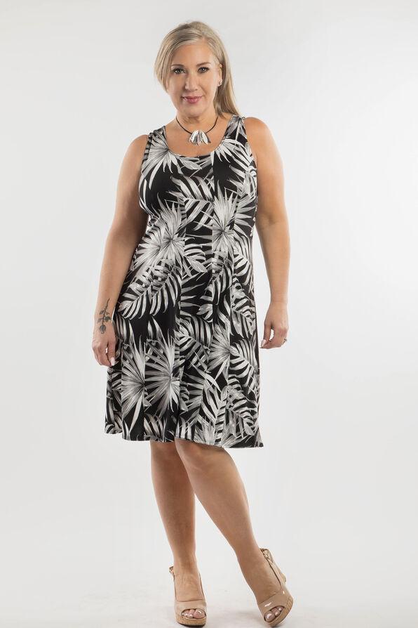 Moonlit Palms Dress, Black, original image number 0