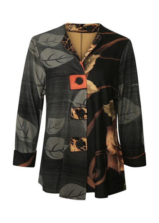 Leaf Print Jacket, Orange, original