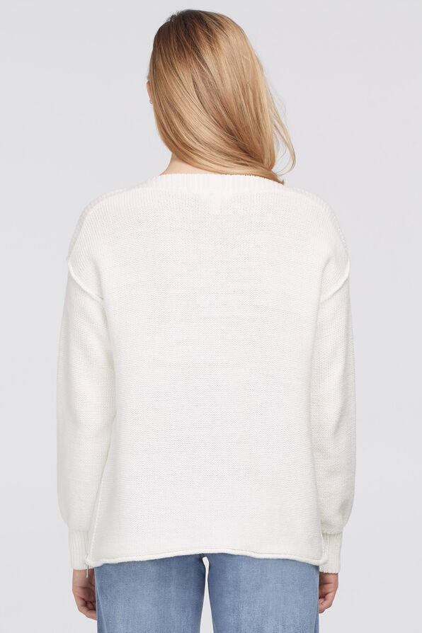 Sharlene Boatneck Sweater, Cream, original image number 1