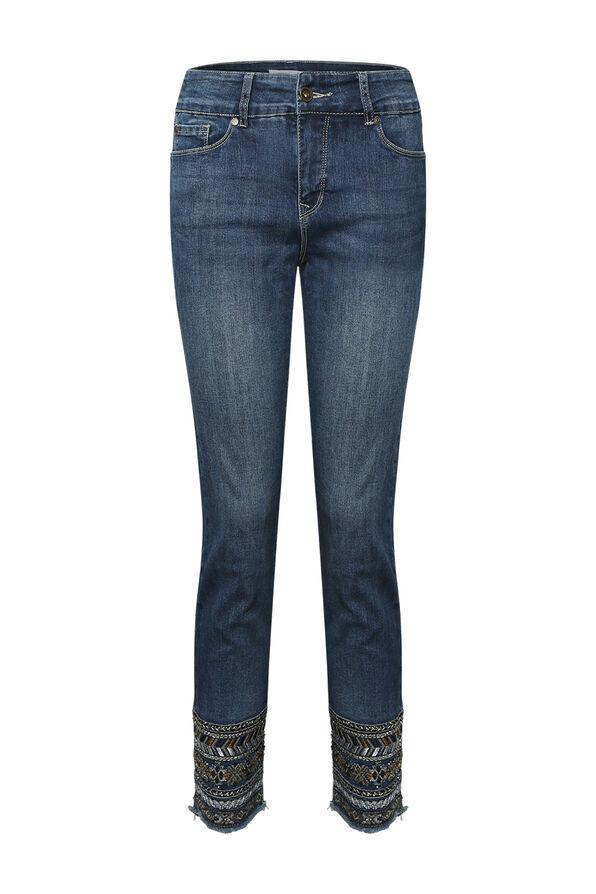 Evren Embellished Ankle Jean, Indigo, original image number 0