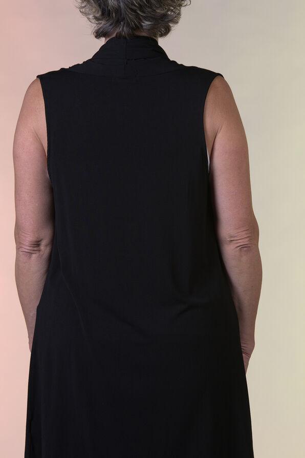 Bamboo Long Vest, Black, original image number 2