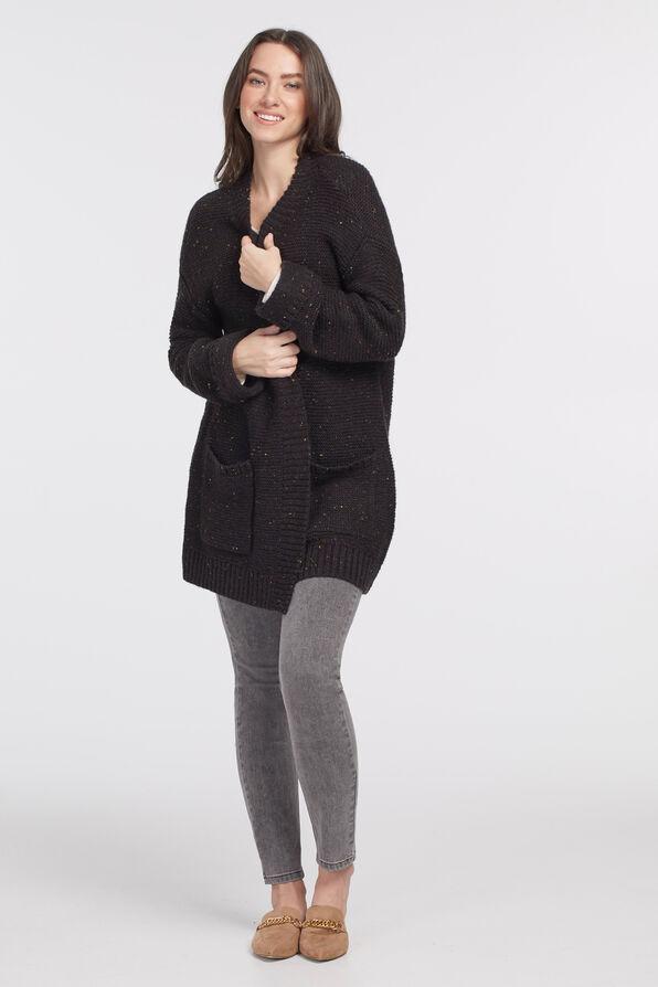 Oversized Olga Cardi, Black, original image number 3