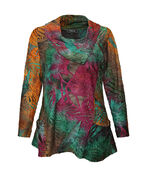 Colours of Autumn Burnout Tunic, Green, original image number 0