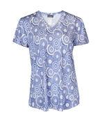 V-Neck Printed Active T-Shirt Hi-Lo Hem, , original image number 1