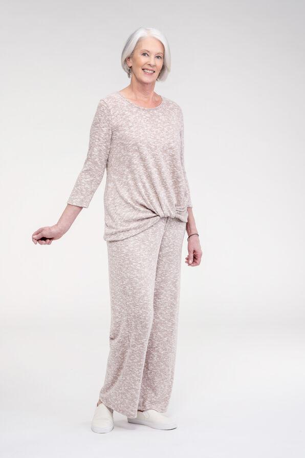 Cozy Wide Leg Lounge Pant, Purple, original image number 1