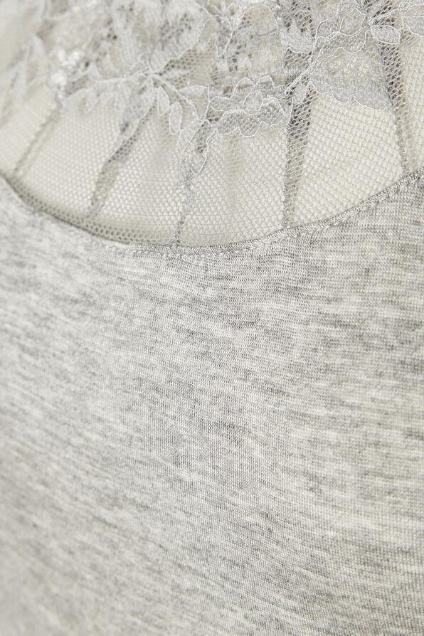 Cream Florence Lace Trimmed Cami, Grey, original image number 2