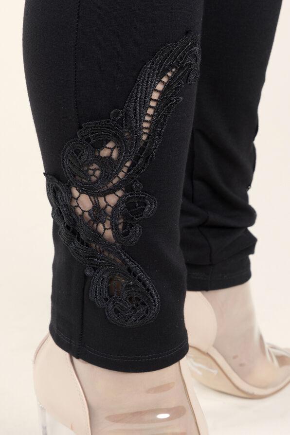 Knit Legging with Applique, Black, original image number 1