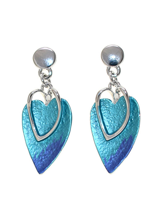 Feathered Heart Earrings, , original