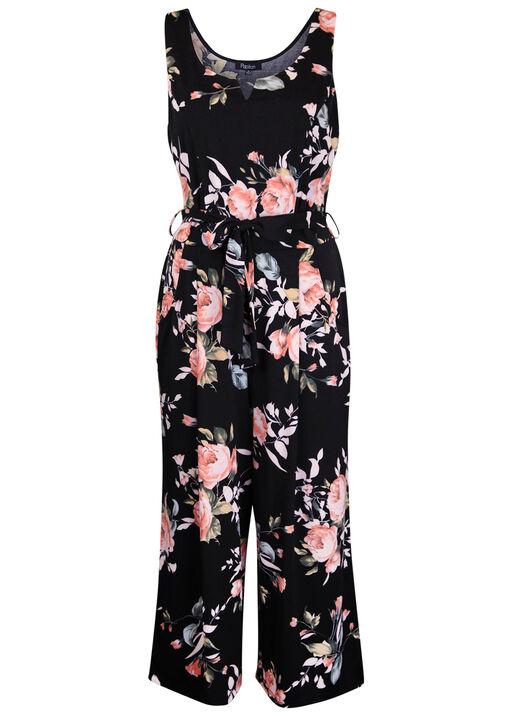 Floral Jumpsuit , Black, original