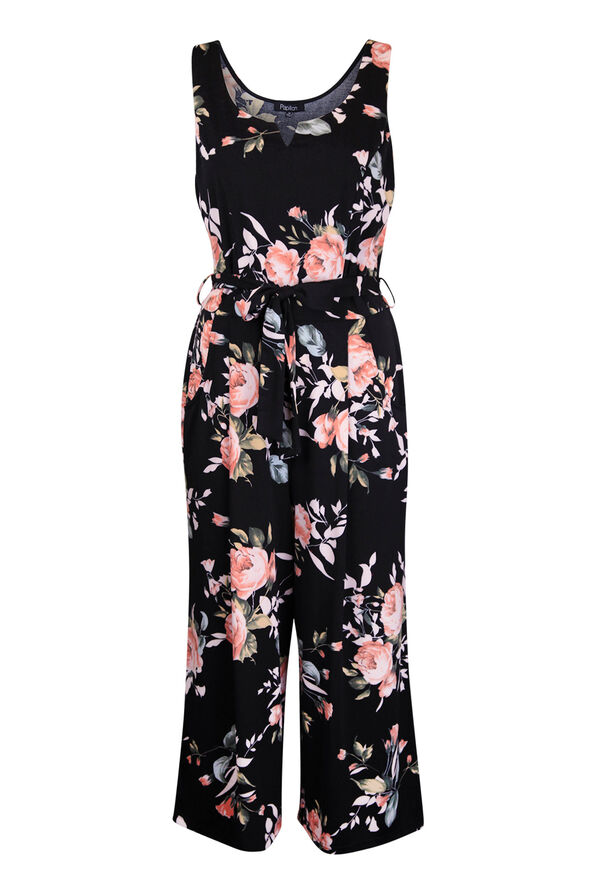 Floral Jumpsuit , Black, original image number 0