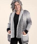 Fabulous Knit Cardigan with Pin, Black, original image number 0