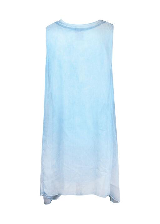 Sleeveless Chiffon Overlay Top, Turquoise, original
