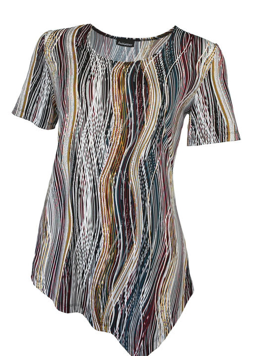 Flow Asymmetrical Hem Short Sleeve, , original