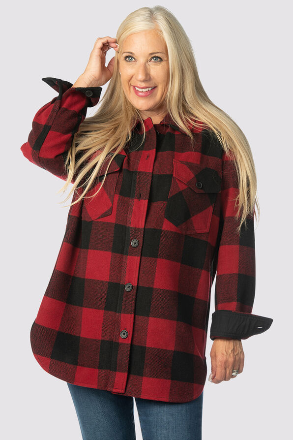 Suzanne's Plaid Shacket, Red, original image number 2