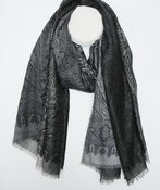 Paisley Print Ombre Scarf, , original image number 1