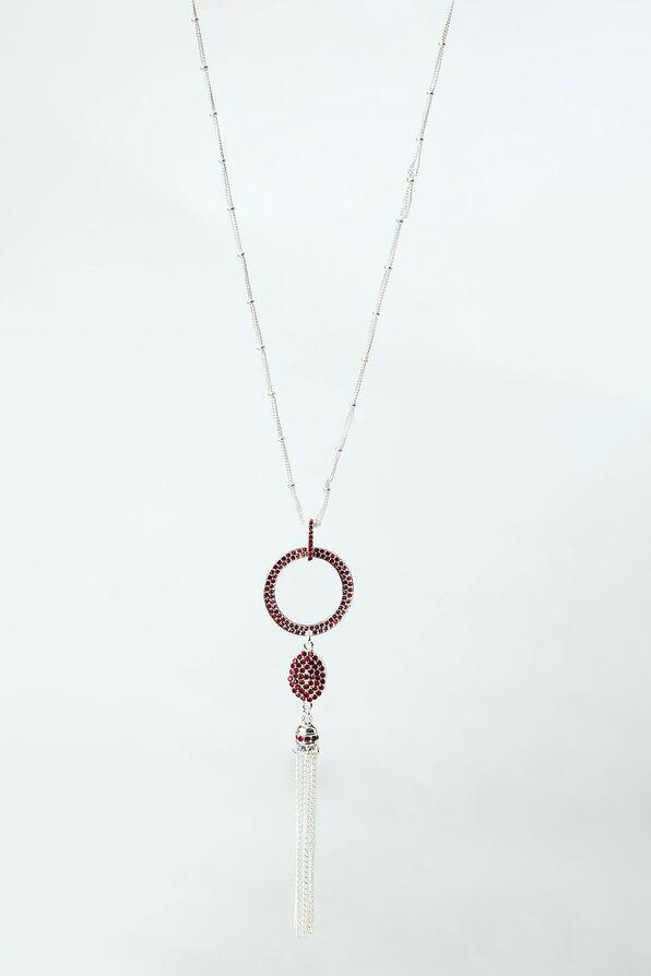 Flapper Necklace, Red, original image number 0