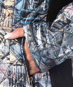 Canadian Puffer Jacket, Denim, original image number 2