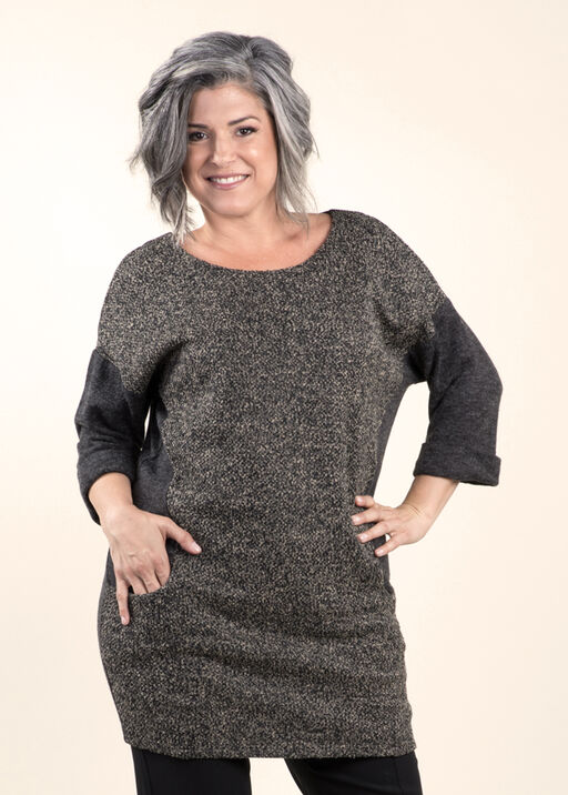 Beautiful Boucle Knit Tunic, Taupe, original