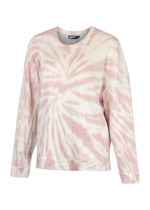 Tie Dye Waffle Long Sleeve With HiLo Hem, , original