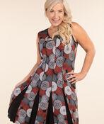 Delilah Swing Dress, Red, original image number 1