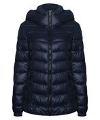 High Collar Mid Weight Hooded Puffer Coat, , original image number 1